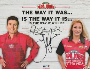 2016 Leah Pritchett Pruett signed Papa Johns Pizza 2nd Version TF NHRA Hero Card