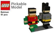 LEGO BATMAN & ROBIN BRICK FIGURES Set dark knight minifig brickheadz BR1