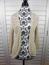 Ann Taylor Loose Knit Cardigan Womens Small Tan Light Brown Jacket Coat Ladies
