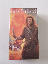 BRAVEHEART ~ STARRING MEL GIBSON - BRAND NEW AND SEALED VHS 2 TAPE SET