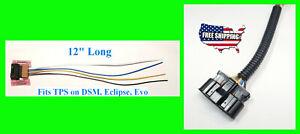 3000GT Eclipse TPS + MAF Pigtail Throttle Position Sensor Connector Mass Airflow