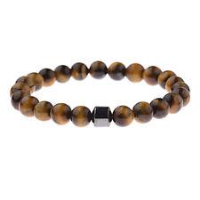 Fashion Men Bracelet 8mm Natural Stone Lava Tiger Eye Stone Friendship Bracelet