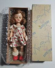 "1950s Sears Happi Time 8"" Auburn Walker Doll - Jointed Knee in Original Box"