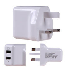 UK MAINS Power Wall Charger Adapter Plug Dual USB 2.1A 5V For iPhone Samsung HTC