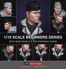 La vida minutos Panzer Commander Segunda Guerra Mundial + Kit de pintura de descarga 1/10th Busto Sin Pintar