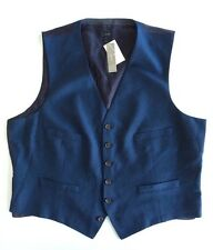 Jcrew Ludlow Suit Vest Italian Wool Flannel Admiral Blue Mens XS NWT $135 04314