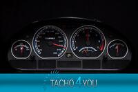 Tachoscheibe für BMW Tacho E46 Benzin oder Diesel M3 Schwarz 3102 Tachoscheiben