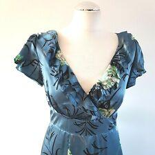 Monsoon GEISHA Orinetal Floral Silk Evening Dress 10 UK Wedding/Party/Cruise