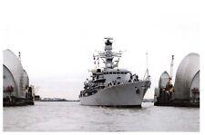 Postcard Royal Navy Ship Type 23 Frigate HMS Westminster, Thames, London 2011 9D