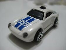 Mattel Hot Wheels (Malaysia) White w/ Blue Stripe Porsche 959 Diecast