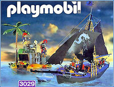 Playmobil 3029 Black Dragon Pirate Schooner - 1999 - New Sealed mint in box