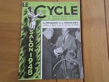 REVUE  LE CYCLE  CYCLOMOTEURS SCOOTERS SPECIAL SALON 1948 VELOS VELOMOTEUR