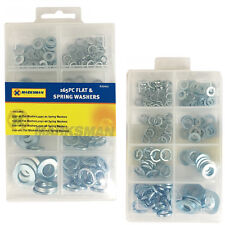 165* Washers Assortment Sump Plug Sealing DIY Tool Assorted Box Flat & Springs