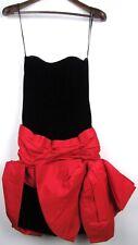 Victor Costa Red & Black Bow Dress Sz 4