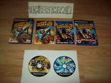 SONY PLAYSTATION 2 GAMES,PS2,DESTROY ALL HUMANS 1+2,BOTH COMPLETE,FREE UK P+P.