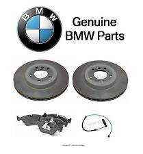 For BMW E46 330Ci 330xi 330i Set of Two Front Vented Brake Disc w/ Pads & Sensor