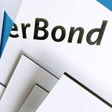 Aluverbund, Dibond Platte weiß - Werbe Schild - 2, 3, 4 u. 6 mm - Größe wählbar