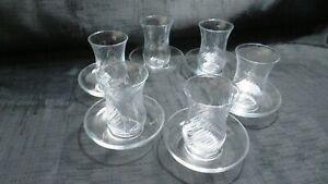 Pasabahce Traditional Turkish Tea Glass & Saucers Set 6-12pc