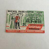 1952 Kansas City Public Service Company Streetcar Weekly Nickel Pass Ticket 331A