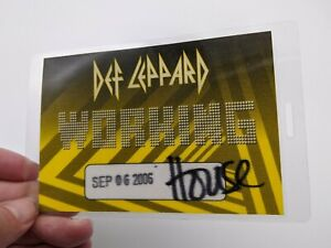 DEF LEPPARD Backstage Pass 2006 Working Laminated