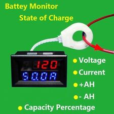 Battery Monitor 5-120V 400A Voltage Current Remaining Capacity Meter Hall Sensor