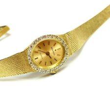 Movado Vintage Solid 14k Yellow Gold & Diamond Bezel Ladies Watch