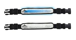 Portwest HV05 Safety Reflective Illuminated Flashing Armband Silver  ADJUSTABLE