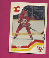 RARE 1983-84 FLAMES KENT NILSSON  SHORT PRINT  VACHON FOOD CARD