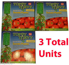 3 X Topsy Turvy Tomato, Herb and Vegetable Hanging Upside Down Garden Planter