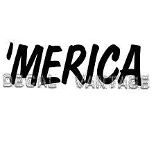 'Merica Style B Vinyl Sticker Decal American Pride Funny - Choose Size & Color