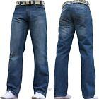 neuf Jeans hommes ENZO droit ajusté régulier ceinture taille 28 30 32 34 36 38