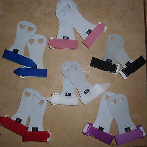 New LILAC LIZARD gymnastic HAND GUARDS /  Palm GRIPS - quality soft leather