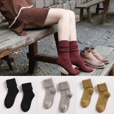 Women Men Cotton Wool High Socks Thickness Hosiery Casual Winter Warm Supply