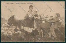 Palermo Costumi Siciliani Asino cartolina QQ0843