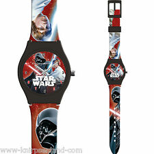 Disney Star Wars Armband Uhr Analog Kinderuhr Kinder Silikon Armbanduhr