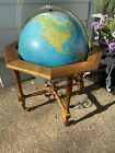 """Vintage """"Geoscope"""" Large 20"""" Illuminated World Globe with Stand Made in Italy"""