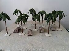 10 x 20mm,1/72nd Palme Deserto Stile per WW2, WW1 fiamme della guerra, BOLT ACTION