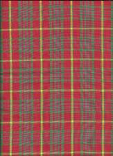 100%COTTON BRIGHT PLAID FROM OLD MILL OUTLET,ONE YARD.