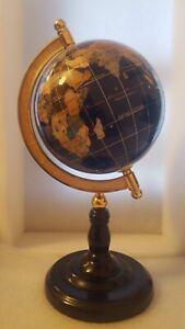 "Globe Lapis Lazuli and other Semi-Precious Stones 12"" High"