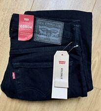 Levi's 65504 Black Skinny Straight Fit Jeans (W32 L34) Never Worn