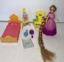 Polly Pocket DISNEY MAGICLIP Tangled  Princess Rapunzel Rooted Hair  Play Set