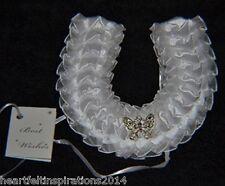 Wedding/Bridal/Keepsake - White Diamante Crystal Butterfly Horseshoe