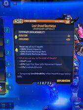 Borderlands 3 Last Stand Deathless wt 12.67 luck artifact PS4