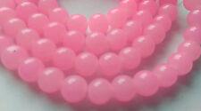 6mm jade style verre perles brins fabrication de bijoux rose