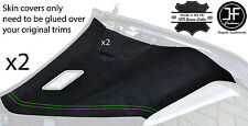 GREEN STITCH CONVERTIBLE HARDTOP 2X REAR C PILLAR PU SUEDE COVERS FITS BMW E36