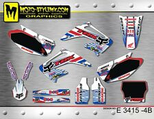 Honda CR 125 250 2002 up to 2007 graphics decals sticker kit Moto StyleMX