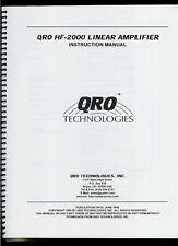 Rare Copy* QRO HF-2000 Ham Radio Linear Power Amplifier Owner's Manual