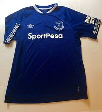 Umbro Official Everton Soccer Jersey Size XL Royal Blue New Angry Birds Logo