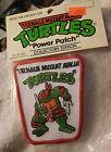 New 1989 Vintage Teenage Mutant Ninja Turtles Raphael Power iron on sew Patch