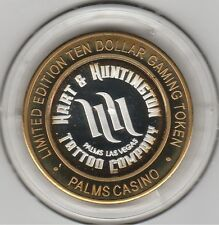 2005 Palms Casino Hart & Huntington Tattoo .999 Fine Silver Strike $10 Token